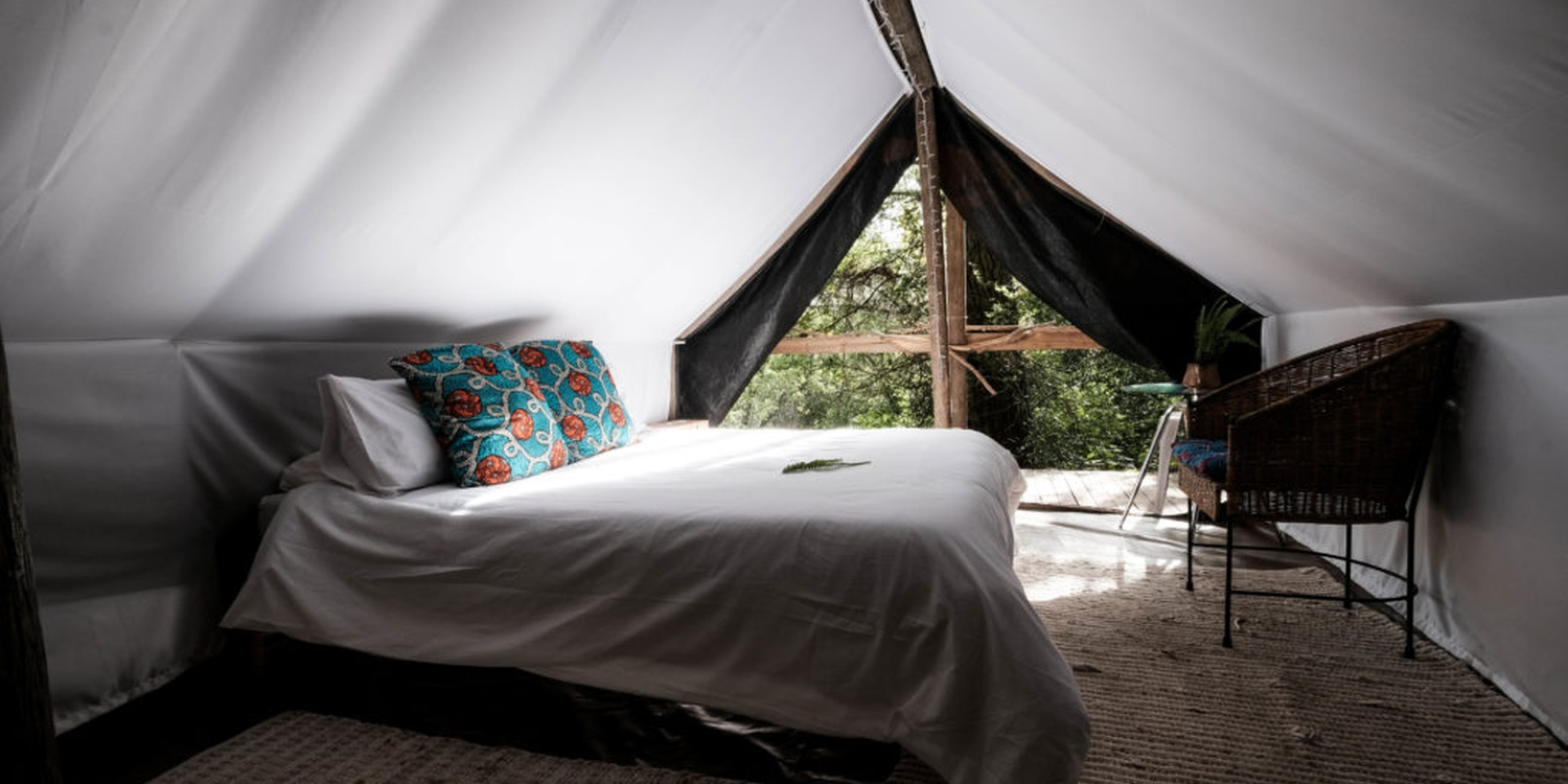 Tented accommodation at Peace of Eden